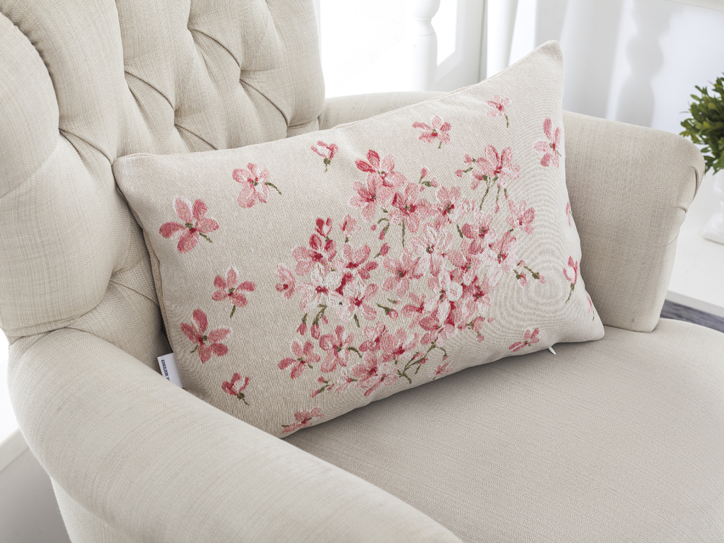 Sakura Goblen Kırlent 35x50 Cm Pembe