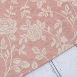 Rose Scroll Jakarlı Halı 70x140 Cm Gül Kurusu