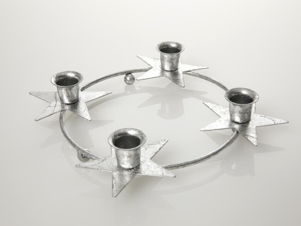 Merry Metal Mumluk 29,5x29,5x4,5 Cm Gümüş