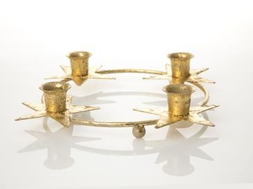Merry Metal Mumluk 29,5x29,5x4,5 Cm Gold