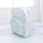 Unicorn Polyester Desenli Çanta 29x37x12 Cm Mint - Lila - Pembe