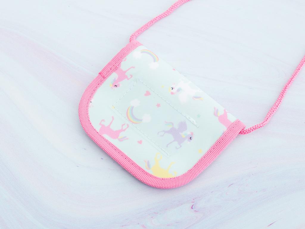 Unicorn Polyester Cüzdan 13,0x10,5 Cm Mint - Lila - Pembe