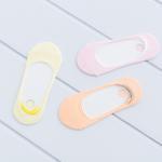 Pastel Pamuklu Bayan 3'lü Babet Çorap 35 - 39 Pembe - Sarı