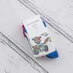 Robot Pamuklu 3 Çift Çocuk Çorap 3-4 Yaş Kırmızı - Beyaz - Lacivert