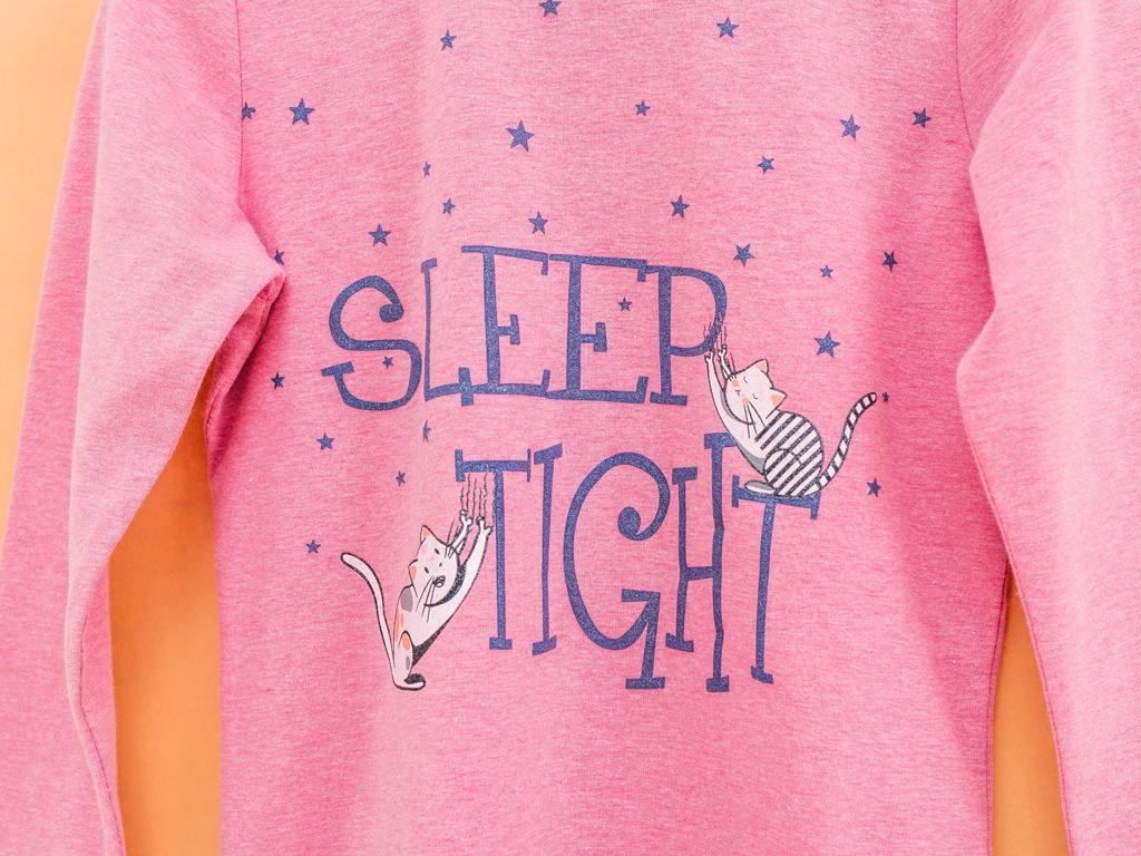 Cats Pamuklu Kız Çocuk Gecelık 6-7 Yaş Pembe