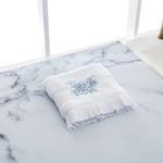 Rambler Rose Yüz Havlusu 50x80 Cm Beyaz - Mavi