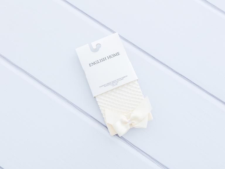 Kurdeleli File Kadın Soket Çorap 35-39 Ekru