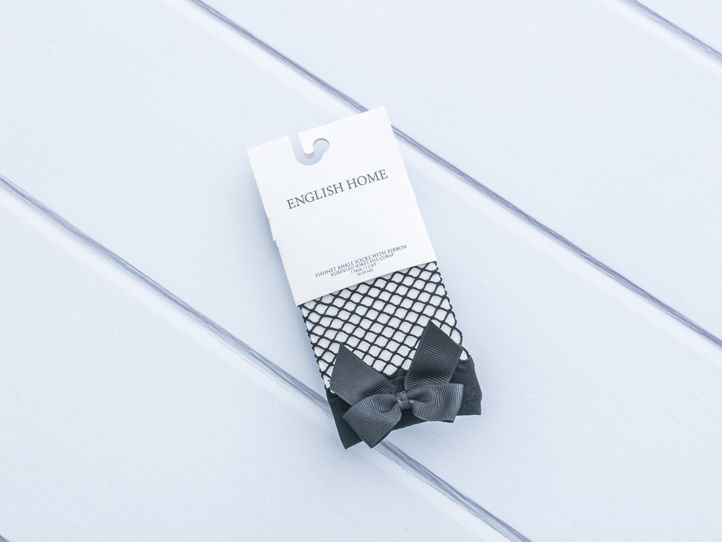 Kurdeleli File Bayan Soket Çorap 35-39 Siyah