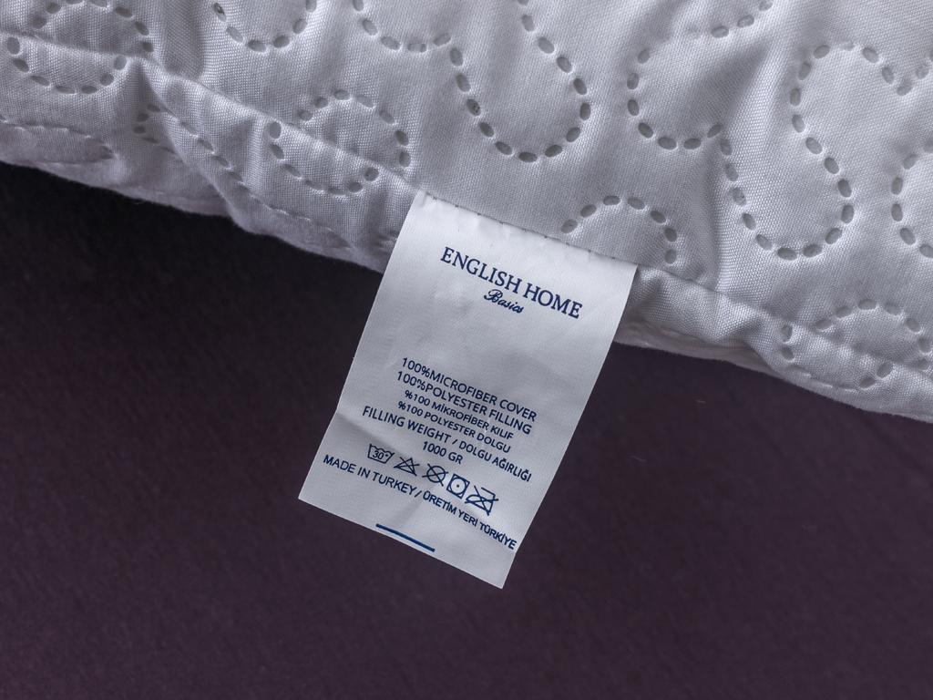 Puff Mikrofiber Polyester Yastık 70x80 Cm Beyaz