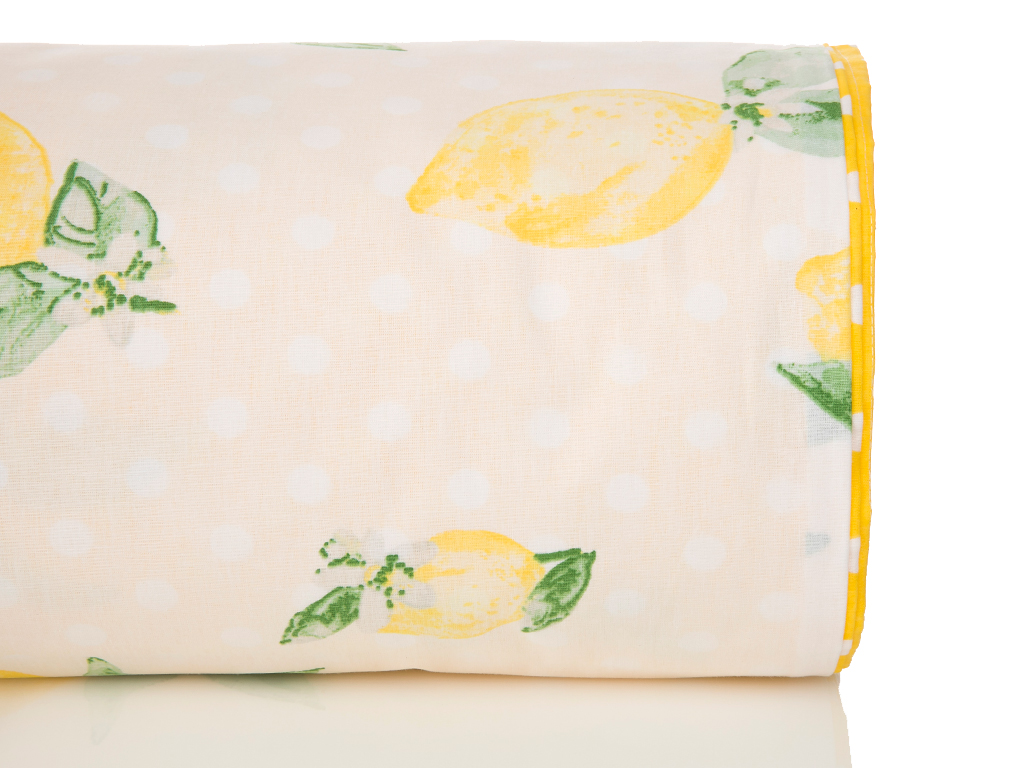 Citrus Pamuklu Tek Kişilik Nevresım 160x220 Cm Sarı