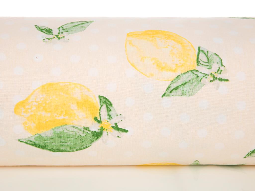 Citrus Pamuklu Tek Kişilik Nevresim 160x220 Cm Sarı