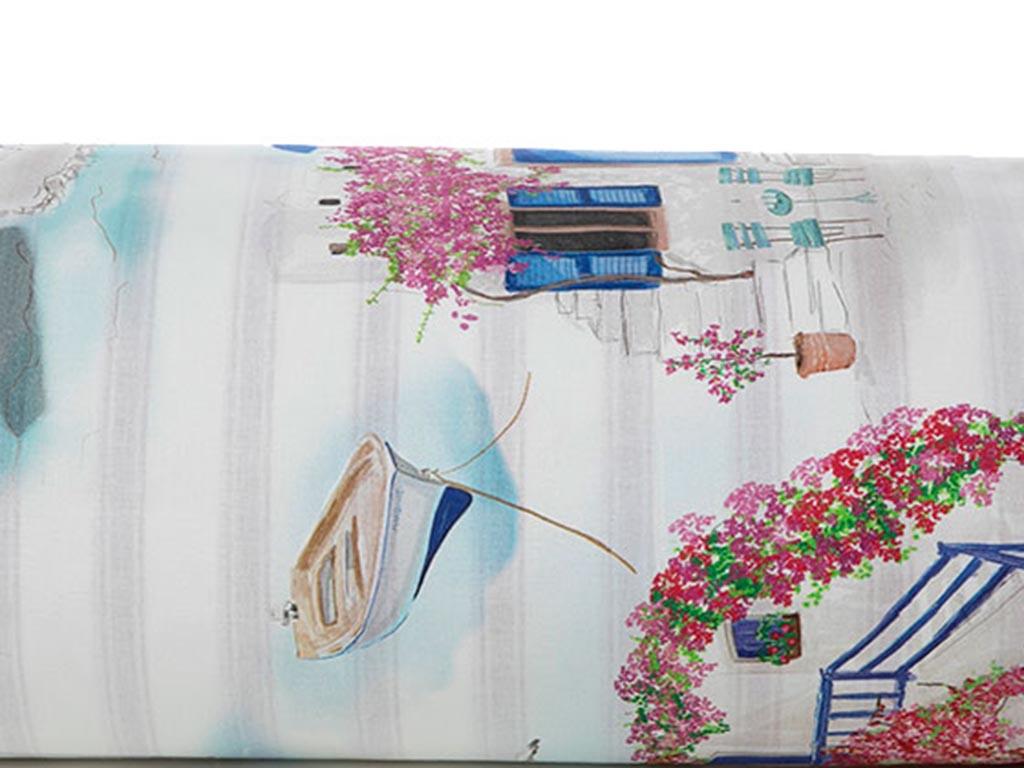 Aegean House Pamuklu Çift Kişilik Nevresim 200x220 Cm Begonvil