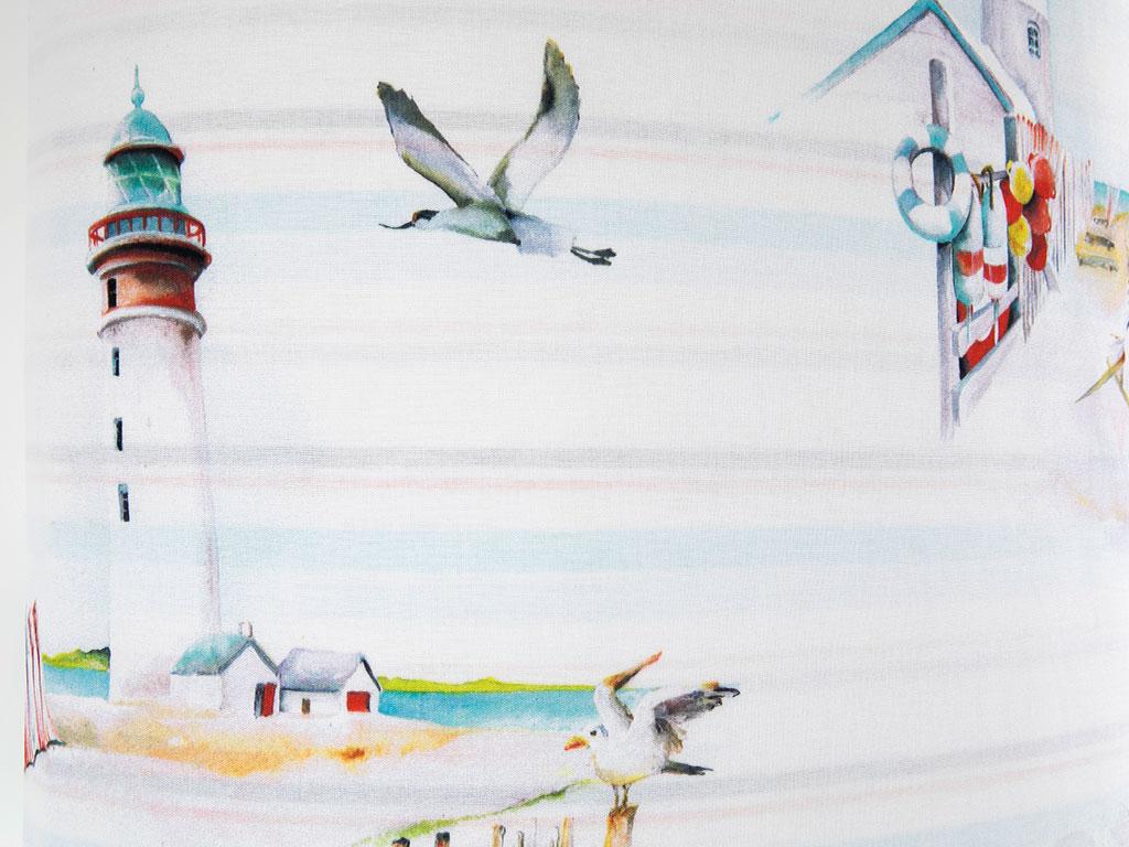 Lighthouse Beach Pamuklu Çift Kişilik Nevresım 200x220 Cm Turkuaz