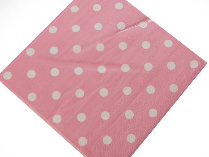 Points Kağıt Peçete 33x33 Cm Pembe