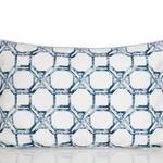 Adelmo Dijital Baskı Kırlent 30x50 Cm Beyaz - Mavi