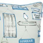 Harbour Dijital Baskı Kırlent 45x45 Cm Bej - Mavi