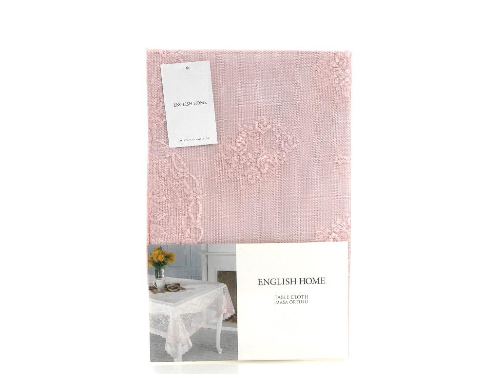 Rose Garden Örme Masa Örtüsü 180x270 Cm Pembe