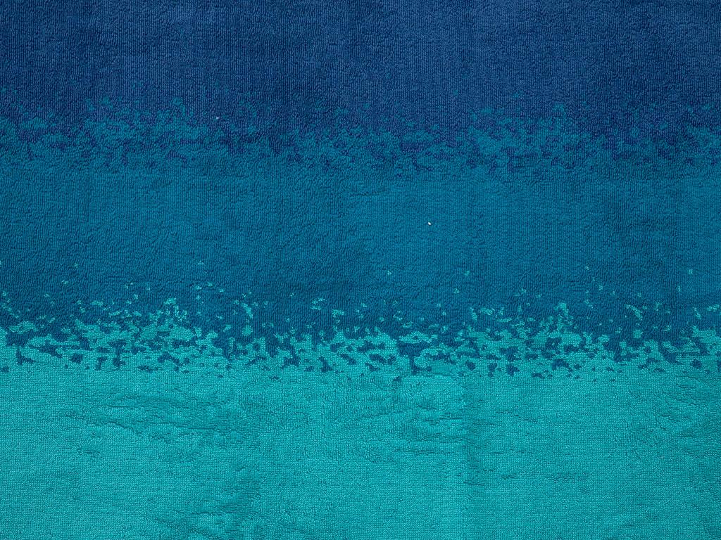 Ocean Waves İpliği Boyalı Plaj Havlusu 80x150 Cm Turkuaz