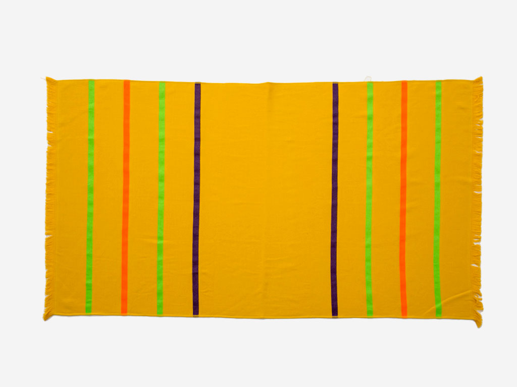 Thin Stripe Pamuklu Plaj Havlusu 80x150 Cm Sarı