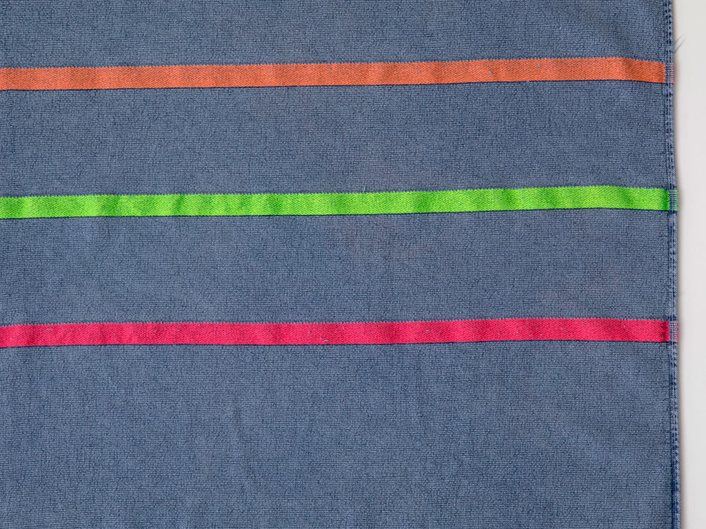 Thin Stripes Taş Yıkama Plaj Havlusu 80x150 Cm Koyu Mavi
