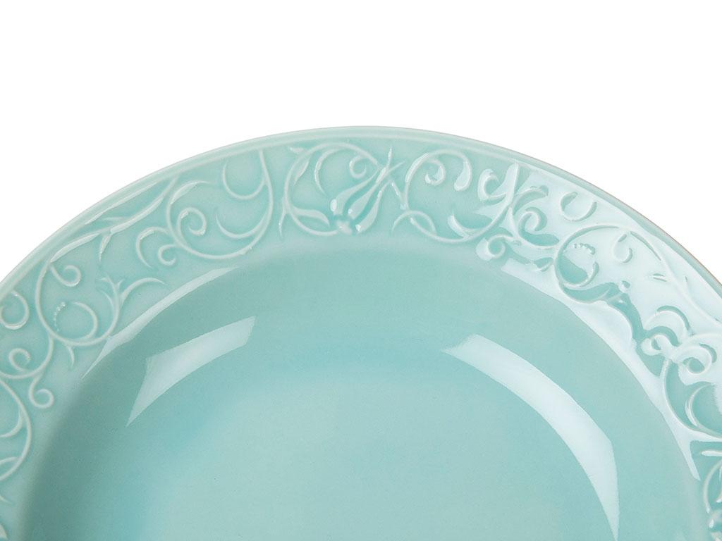 Helena Porselen Tekli Çukur Tabak 22 Cm Mavi