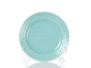 Helena Porselen Tekli Pasta Tabağı 20 Cm Mavi