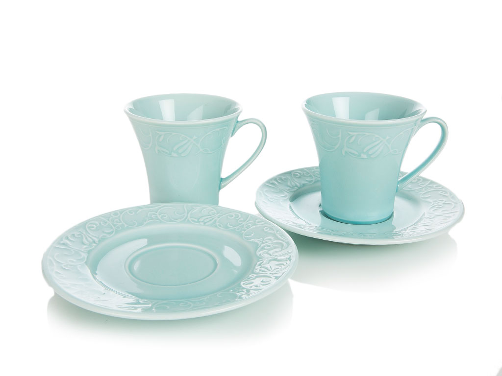 Helena Porselen 2'li Set Çay Fıncanı Takımı 175 Ml Mint