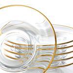 Marissa Cam 6'lı Çay Tabağı 12 Cm Gold