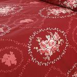 Majestic Rose Pamuklu Tek Kişilik Nevresim 160x220 Cm Kırmızı