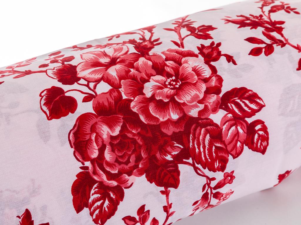 Ruby Rose Pamuklu Çift Kişilik Nevresim 200x220 Cm Kırmızı