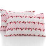Allure Rosa Pamuklu 2'li Yastık Kılıfı 50x70 Cm Kırmızı