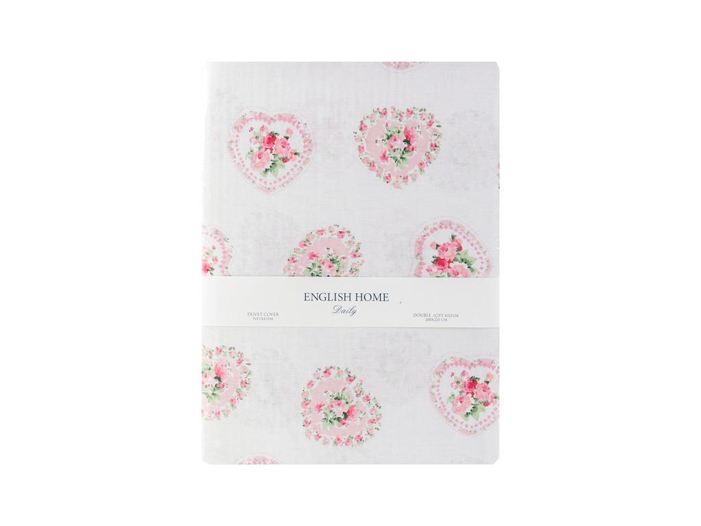 Rose Passion Pamuklu Çift Kişilik Nevresim 200x220 Cm Pembe