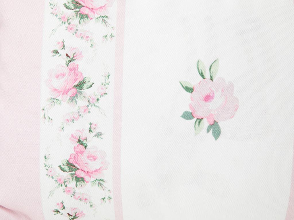 Rose Coquette Dijital Baskı Dolgusuz Kırlent 35x50 Cm Açık Pembe