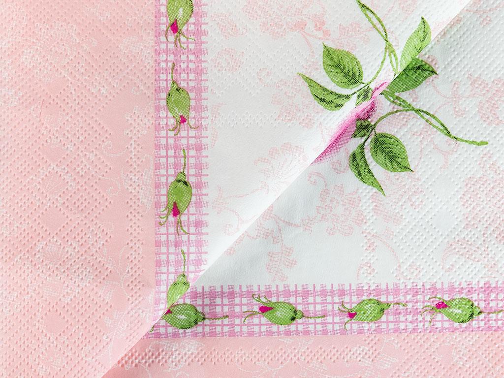 English Home Kağıt 22 Adet Kağıt Peçete 33x33 Cm Pembe