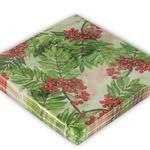 Kokina Kağıt 22 Adet Kağıt Peçete 33x33 Cm Kırmızı - Yeşil