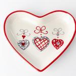 Christmas Heart Seramik Çerezlik 19,5x16,8x3 Cm Kırmızı