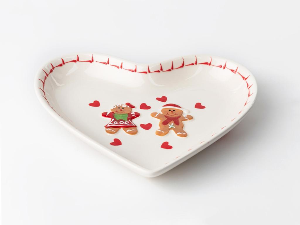 Ginger Seramik Çerezlık 19,5x16,8x3,0 Cm Kırmızı