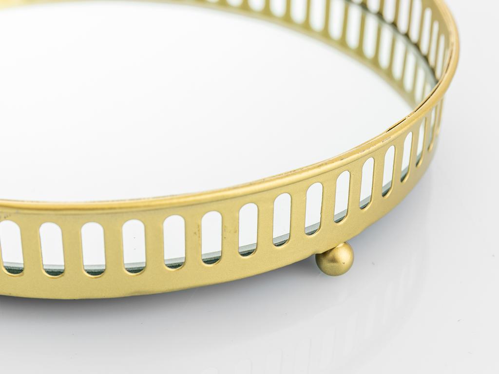 Tiara Ferforje Dekoratıf Kutu 20,7x20,7x3,7 Cm Gold