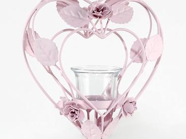 Luxury Roses Ferforje Mumluk 17,5x10x24 Cm Açık Pembe