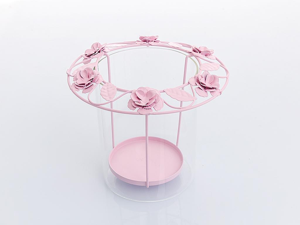 Flower Art Mumluk 18x18x16,5 Cm Açık Pembe