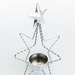 New Year Ferforje Mumluk 13,5x13,5x16,5 Cm Gümüş