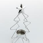 New Year Ferforje Mumluk 10,5x10,5x20 Cm Gümüş