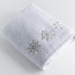 Cheerful Snowman Nakışlı Yüz Havlusu 50x80 Cm Beyaz