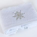 Cheerful Snowman Nakışlı El Havlusu 30x45 Cm Beyaz