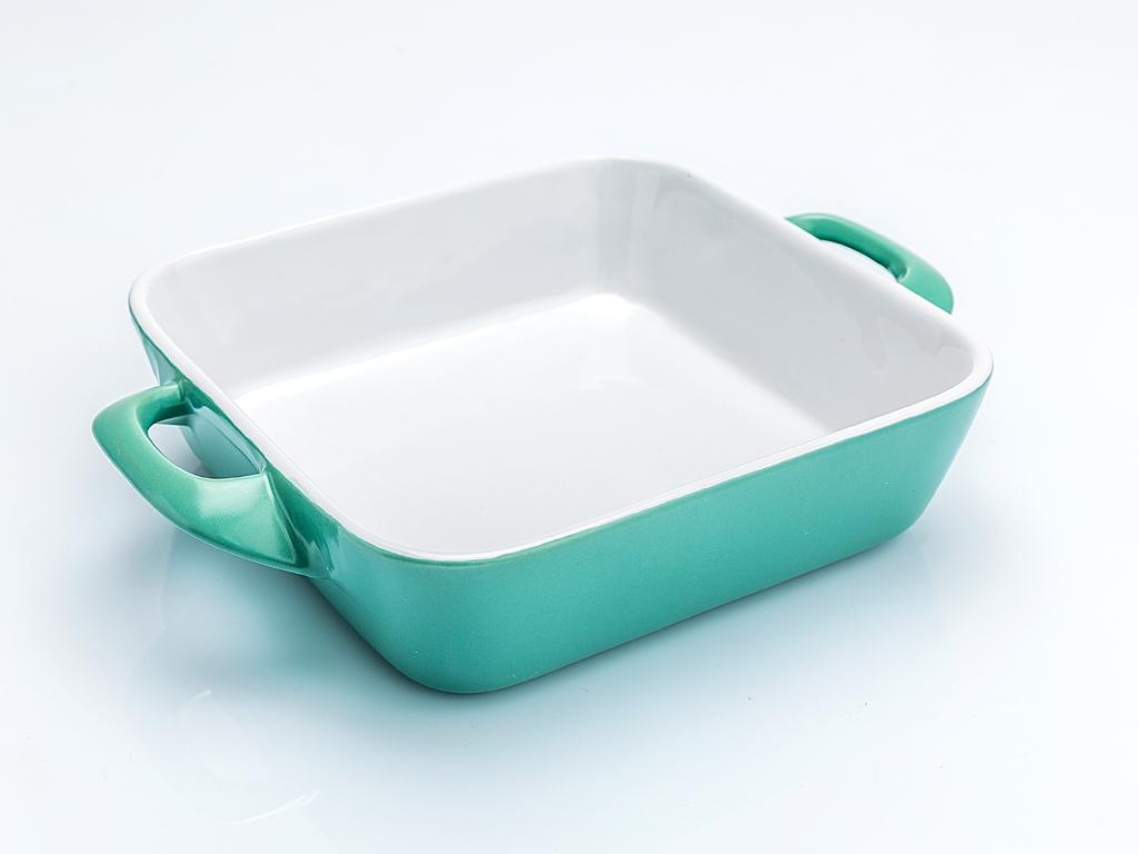 Lace Dikdörtgen Seramik Tekli Fırın Kabı 29x21,5x6,3 Cm Mint