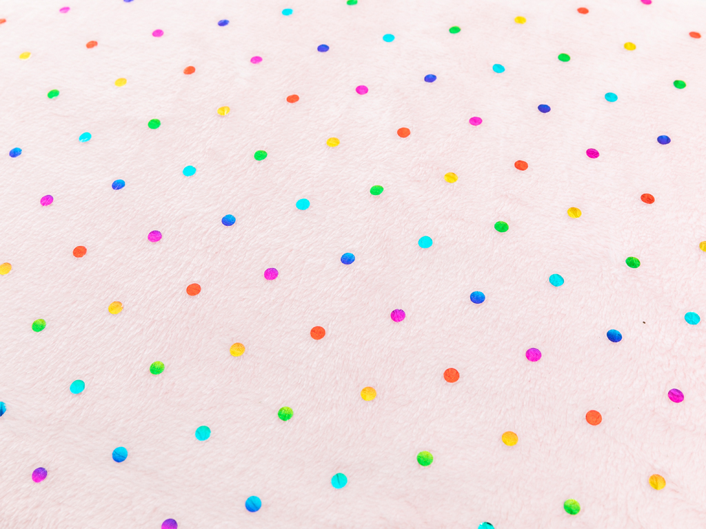 Glam Dots Ultrasoft Çocuk Battaniye 150x200 Cm Pembe