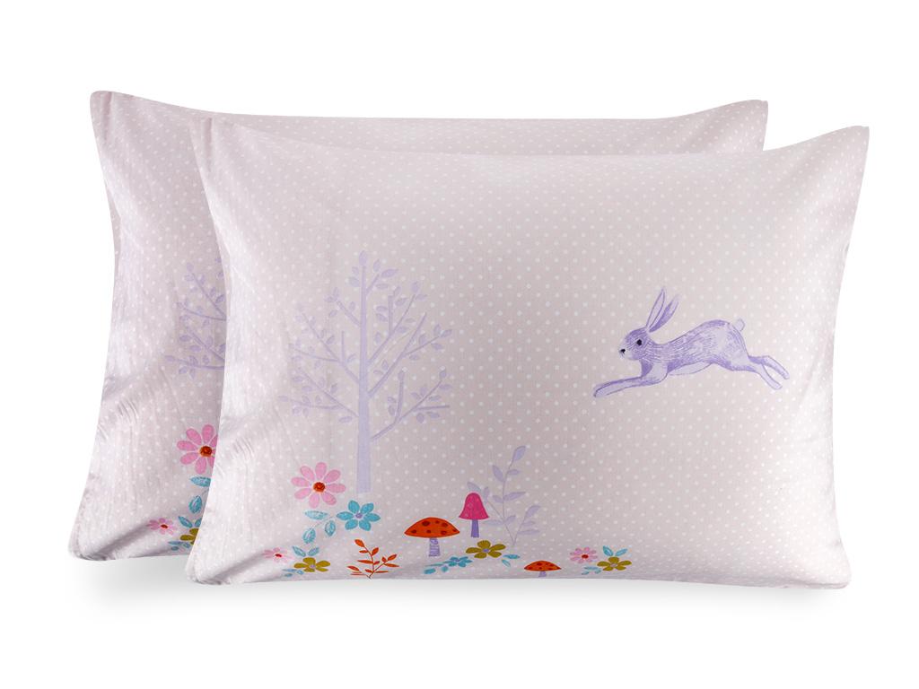 Fairy Forest Pamuklu 2'li Çocuk Yastık Kılıfı 50x70 Cm Pembe