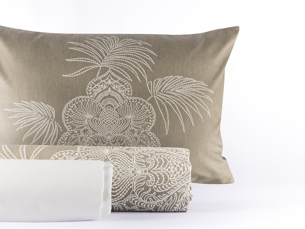 Chic Palm Pamuk Tek Kişilik Nevresım Takımı 160x220 Cm Yeşil