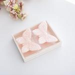 Butterfly 2'li Mum 9,0x6,0x2,5 Cm Pembe