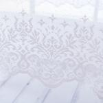 Damasque Örme Masa Örtüsü 150x150 Cm Pembe